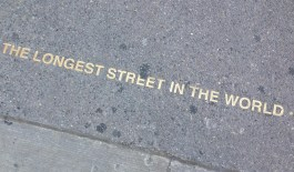Yonge St. – the longest street in the world (1,178 miles long!)