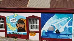 StreetArt: pirate sailboat in ice cave