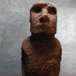 Museum in La Serena, large Moai, Easter Island figure