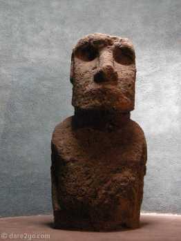 Museum in La Serena, large Moai, Easter Island figure