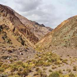 Side valley along the Agua Negra pass