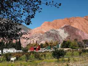 Purmamarca is well known for its backdrop of the Seven Coloured Mountains