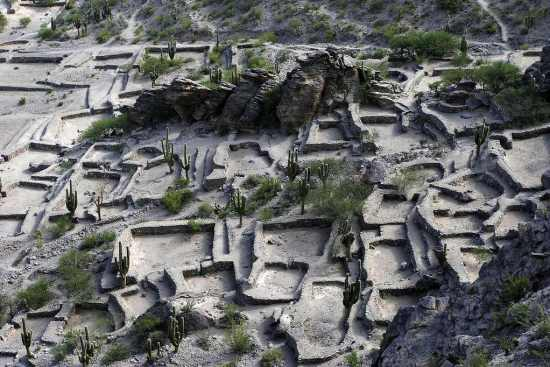 The Quilmes ruins as seen from above