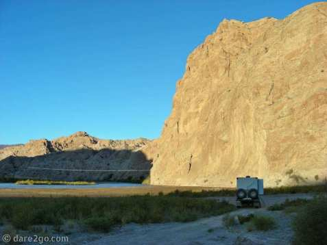RN40: our lovely overnight spot in the Quebrada de Las Flechas