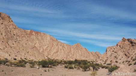 Paso San Francisco, Argentina: marbled lines in the mountains