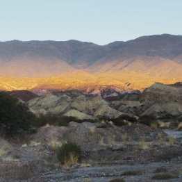 golden sunset light outside Santa Maria