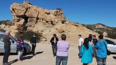 Ischigualasto: first ranger talk at El Gusano (the worm)