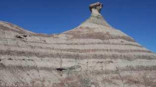 Ischigualasto: layered rock structure near Valle Pintado