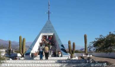 Near Santa Maria, Argentina: nicely built roadside shrine