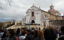 The mass in honour of Nuestra Señora de la Merced in front of the cathedral.