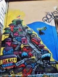 Valparaiso StreetArt: Valpo is often featured in Valpo's street art.