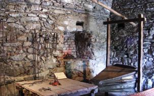 Estancia Alta Gracia: blacksmith shop with large leather bellows