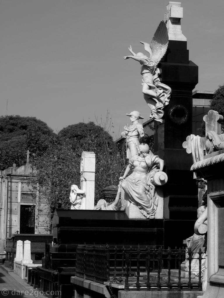 La Recoleta cemetery in Buenos Aires: a monstrous soldier grave photographed in 2009