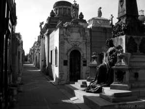 La Recoleta cemetery in Buenos Aires: somehow in 2009 we strolled through a different section of the cemetery