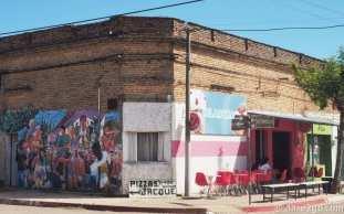 The colourful ice cream parlor in San Gregorio