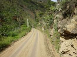 The last kilometres downhill into Huánuco. Traffic along here was getting fairly busy - still with no room to pass safely.