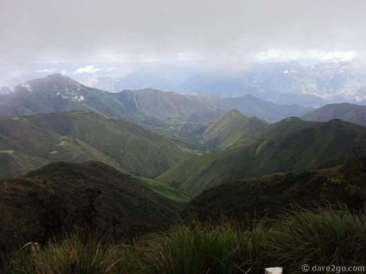 The vista when we crossed the Calla Calla pass, at 3,600m.