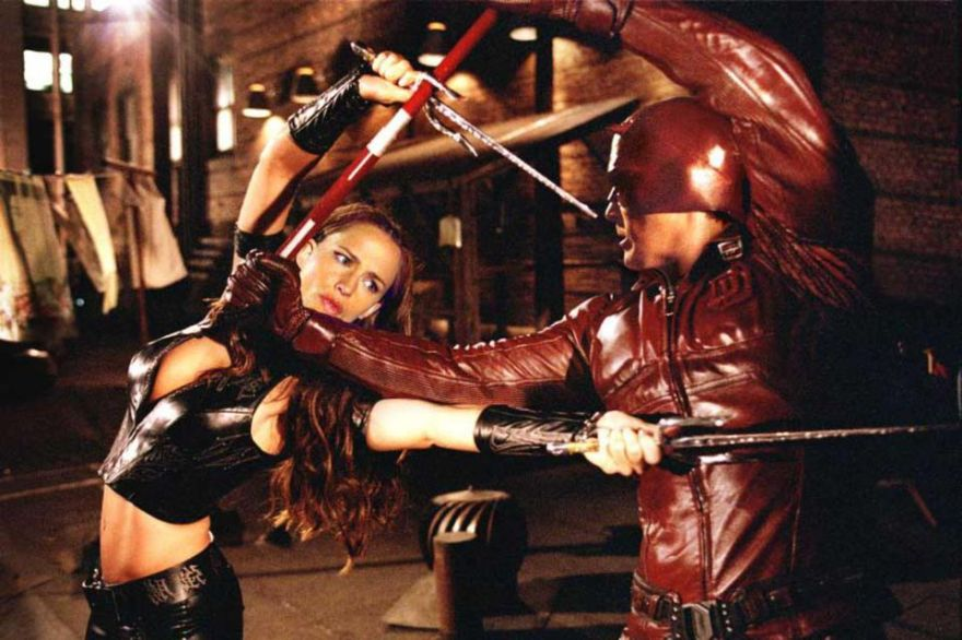 Ben Affleck and Jennifer Garner in Daredevil