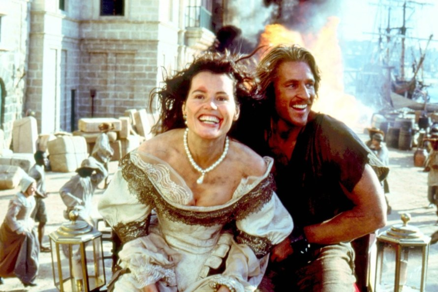 Geena Davis and Matthew Modine in Cutthroat Island