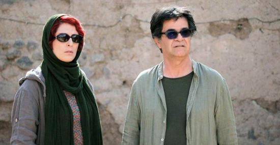 "Behnaz Jafari and Jafar Panahi, stars of the Iranian film ""3 Faces"""