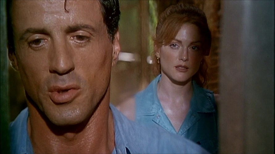 Sylvester Stallone and Julianne Moore in the 1995 film Assassins