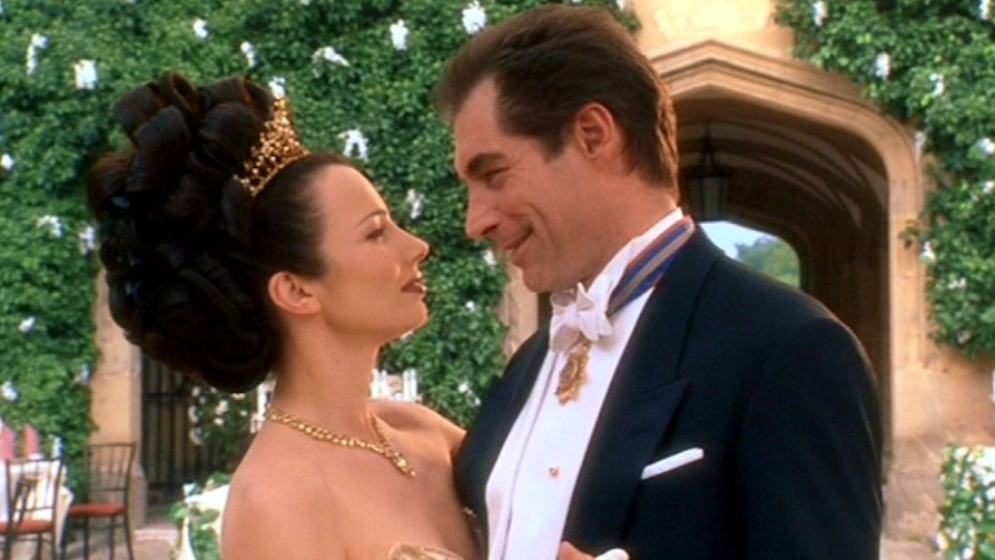 Fran Drescher and Timothy Dalton in The Beautician and the Beast