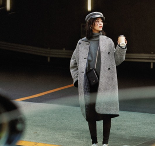 【今日のコーデ】こなれ感も計算ずく♡千鳥格子コートの今旬スタイル