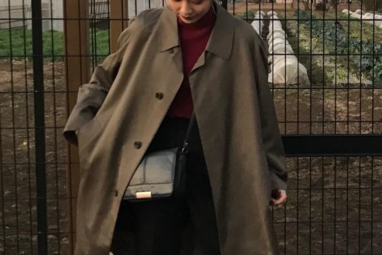 古着のコートが大活躍♡ダークトーンをきれいめに着るテクニック