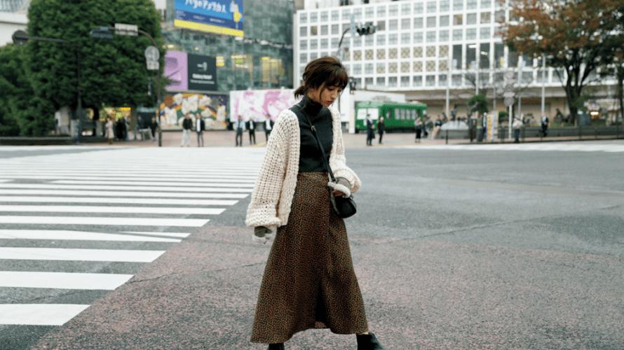 【今日のコーデ】シックな配色に♡花柄ロングスカートのモードな着こなし