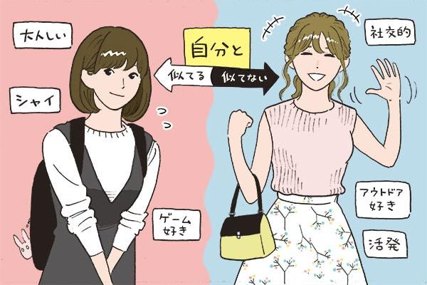 「自分と似ている女性」と「似ていない女性」どっちが好き? #恋の答案用紙