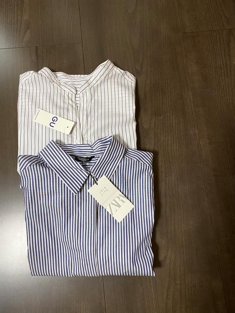 ストライブシャツ2枚