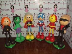 Os Vingadores kit com 6