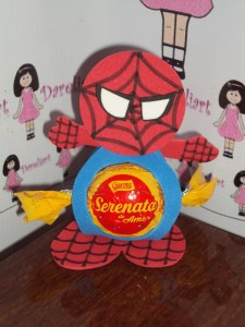 Porta-bombom Homem Aranha em Eva - Dareliart