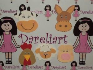 Aplique Fazendinha - Dareliart
