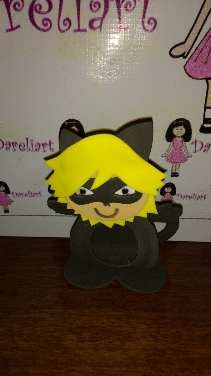 Porta Bombom Cat Noir Em Eva 10 Cm - Kit C/10 - Miraculous