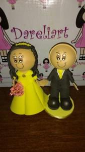 Bonecos Topo de Bolo Noivinhos Noivo Careca - Dareliart (2)
