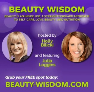 Julia Loggins speaking at beauty and beautiful webinar