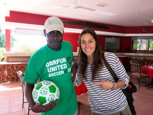DU's Iggy and i-ACT's Project Coordinator Sara-Christine.