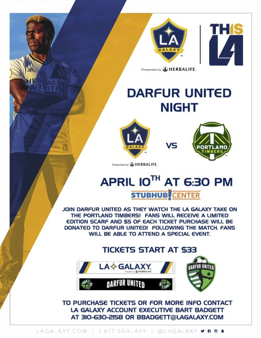 Darfur United Night - LA Galaxy April 10