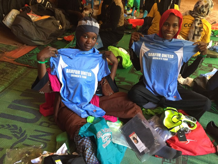 First Day of Training Camp for Darfur United Women's Team
