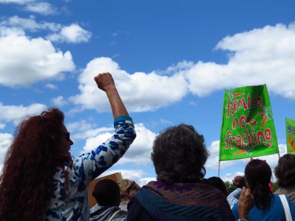 Fracking protesors in Dargle