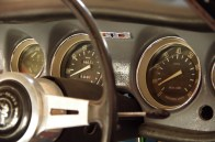 The dashboard was in very good condition, and came with a full set of GT gauges and dials.