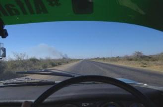 Dry, dusty Zambia.