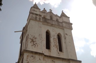 The steeple of the old church, where Dr Livingstone's body was kept overnight on its way back to England, I presume.