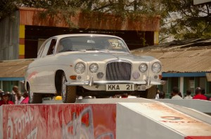 A Jaguar MkX on the stand.