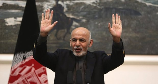 In this Monday, Dec. 14, 2015 file photo, Afghan President Ashraf Ghani speaks during a press conference in Kabul, Afghanistan.
