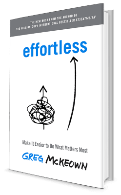 Book cover: 'Effortless' by Greg McKeown
