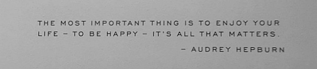 quote - Exhibiton: To Audrey With Love
