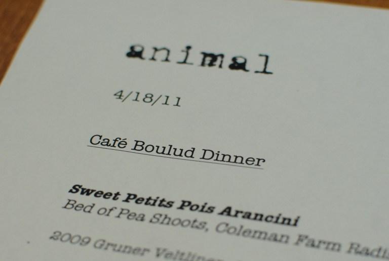 Cafe Boulud @ Animal (Los Angeles, CA)
