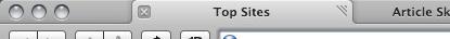Sean Sperte's proposed improvement to Safari 4's tabs.